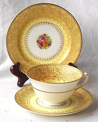 George Jones & Sons Crescent China Hand Painted Trio