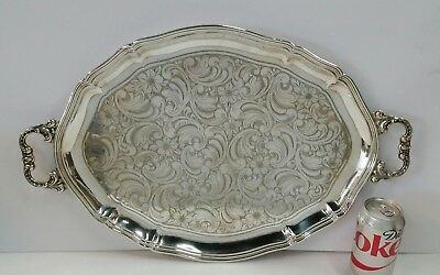 Vintage Sterling Silver 925 German Hand Chased Tray/Platter