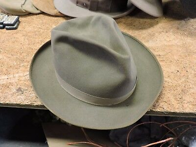 Vintage Used Royal Stetson Fedora Man/Men's Hat, Brown, 6 7/8, 1 of 6 Listed