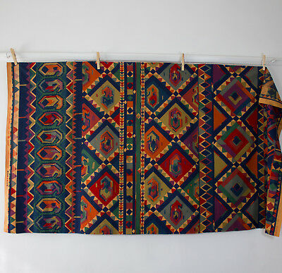 vintage 1980s Collier Campbell Kasbah Moroccan screenprint cotton fabric piece