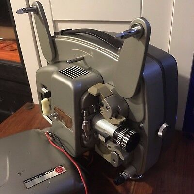 Bolex Paillard 18-5 8mm Silent Film Projector Portable Vintage 'AS SEEN'