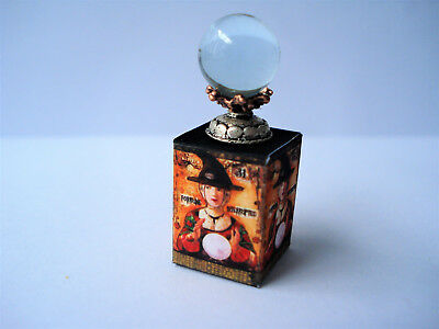 1/12th  Dolls House Miniature Fortune Telling Crystal Ball with Box