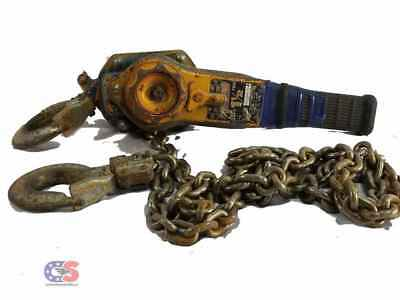 Harrington  LB015 1-1/2 Ton Lever Chain Hoist 3000 lb 5' Lift Hook Opening