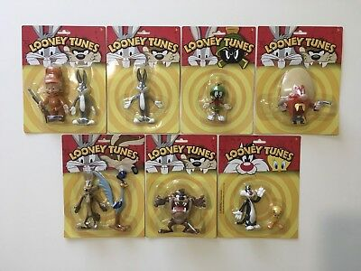 Warner Brothers - Looney Tunes - Bendable & Poseable Figures - Complete Set