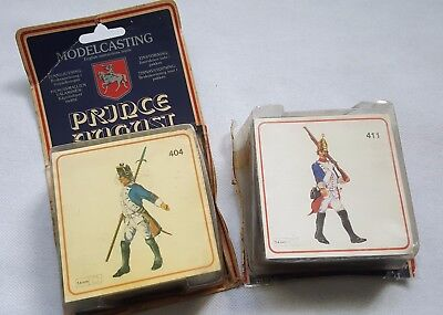 Set of 2 Prince August Moulds PA404/411 54mm Prussian Officer advancing Marching