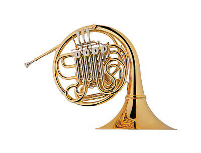 4 Key Double French Horn Bb/F Key, Case, Cleaning Cloth, Mouthpiece, Gloves
