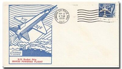 """X-15 early """"Goldcraft cachet"""" launch cover EAFB 17.9.1959 RARE - 8f114"""