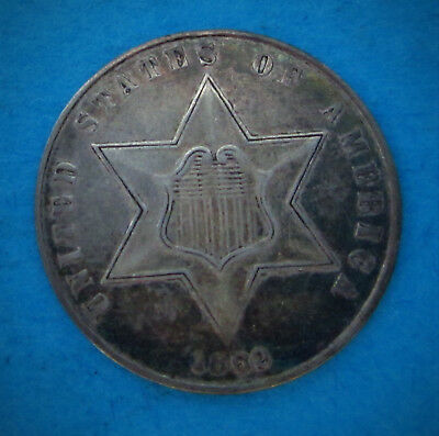 1862 Three Cent Silver (KM# 88) Great US Type Coin