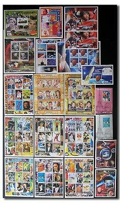 Collection of MNH space stamp sheets and blocks - 10d256