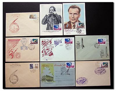 CCCP - Vostok 2 Titov collection of 9 covers/cards - 9f96