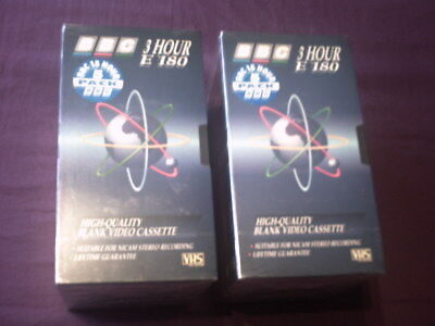 VHS blank video tapes 2 packs of 5 cassettes