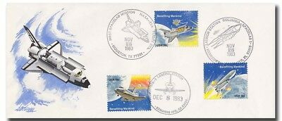 STS-9 longsize cover with HANDDRAWN VanWaay cachet - 2f221