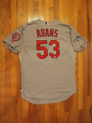 Matt Adams Game Used Worn St Louis Cardinals Postseason Jersey Musial MLB HOLO