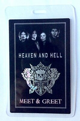 Heaven And Hell Meet And Greet Laminate. Ronnie James Dio. Iommi.