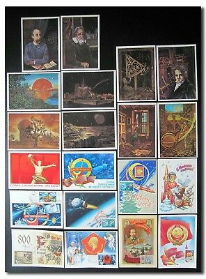 CCCP - collection of 20 unused Russian mostly space postcards - 12e369