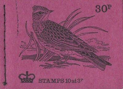 GB QEII February 1973 Booklet DQ69 - British Birds No.7 - 30p