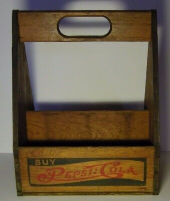 Vintage wooden Pepsi:Cola double dot 6 bottle carrier