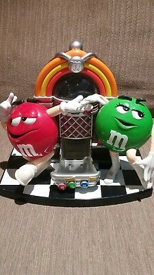 M&M M&M's Jukebox Candy Dispenser Red & Green Dancing - Mint Condition