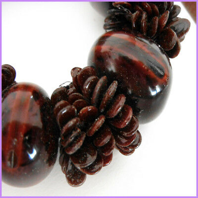 Brown cebucao nut with shell bracelet