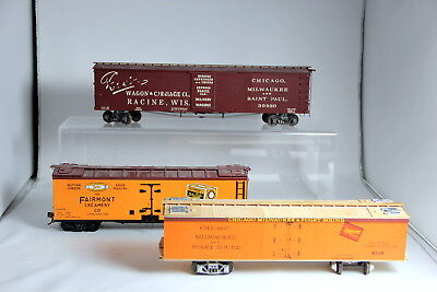 Lot of 3 O Scale Wooden Freight Cars