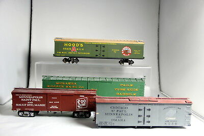 Lot of 4 O Scale Wooden Freight Cars