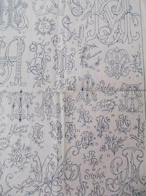1900s vintage embroidery french La Brodeuse sewing patterns names monogrammes