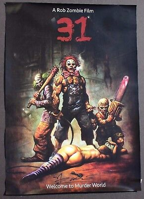 Rob Zombie 31 Murder World Movie Poster Clown Scary Devils Rejects Autographed