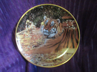 Franklin Mint, set of 3 Tiger collection plates