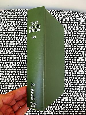 1923 RENO CITY DIRECTORY w/ WASHOE COUNTY & CARSON CITY - EVERY RESIDENT'S INFO