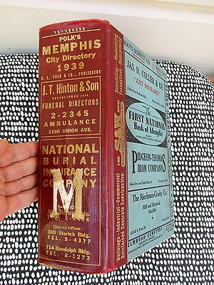 1939 Memphis, Tennessee City Directory - Every Resident'S Name Address & Trade