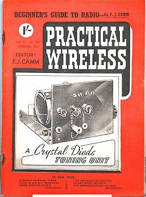 Practical Wireless Magazine September 1953 - A crystal diode tuning unit
