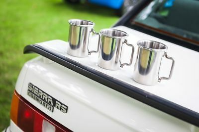 "Ford Sierra RS Cosworth 3"" Rolled Tip Stainless Exhaust Mug Cup"