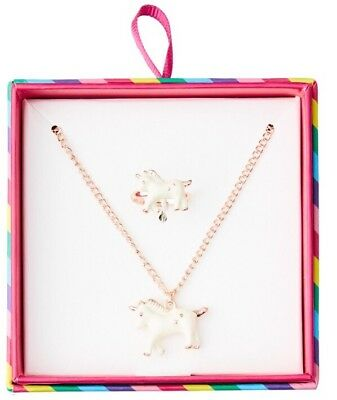 Smiggle Smile Unicorn 🦄 Jewellery Box Set Necklace & Ring Lovely Gift 💝 BNIB