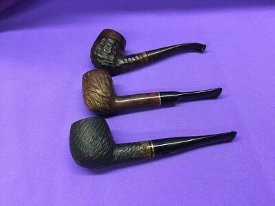 Lot of 3 Vintage Smoking Pipes -1  Willard Imported Briar 2 EA Careys - Used