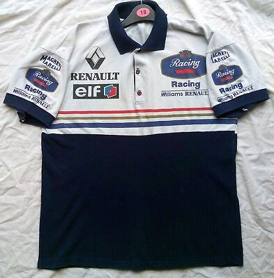 Retro Vintage Official Williams Rothmans Racing 1997 F1 Polo Shirt Size M
