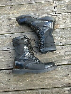 Corcoran USA Mens 8.5 Black Leather Trim Military Moto Boots