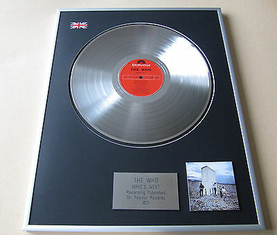 THE WHO Who's Next LP Platinum Presentation Disc