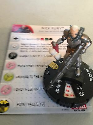 Marvel Heroclix Nick Fury Agent of S.H.I.E.L.D. Nick Fury Super Rare 056