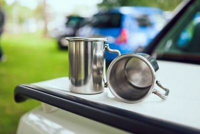 """BMW 3"""" Rolled Tip Stainless Exhaust Mug Cup"""