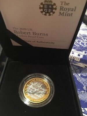 The Royal Mint 2009 Robert Burns £2 silver proof coin