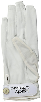 Lady Classic Solar Nail and Ring Glove, White, Small, Right Hand