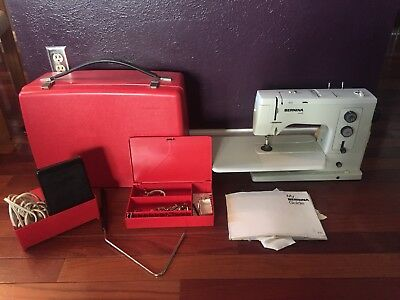 Bernina Record 830 Electronic Sewing Machine w/ Accessories Feet & Carrying Case
