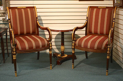 Beautiful high end pair of occasional arm chairs