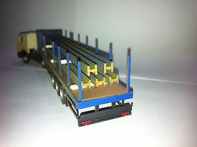 HO Scale Semitrailer with Steel Load