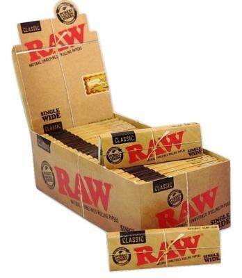 RAW Single Wide Classic Standard Regular Papers Natural Paper