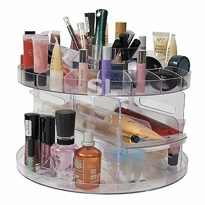 Comestic Carousel 360° Rotating Acrylic Cosmetic Organiser Makeup Storage Box  sc 1 st  PicClick UK : makeup storage uk  - Aquiesqueretaro.Com