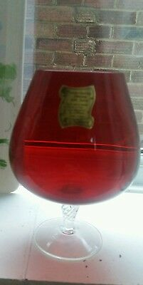 Japanese Ruby glass vase mouthblown genuine