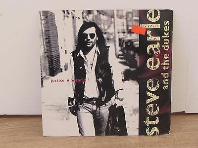"Steve Earle & The Dukes ‎– Justice In Ontario 7"" Single Vinyl Record"