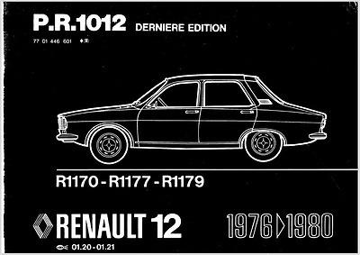 Manual despiece Renault 12 en Frances (En CD)