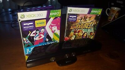 genuine Xbox kinect + 2 games good (used) condition